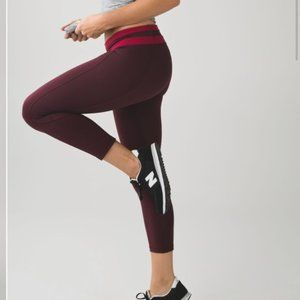 Lululemon Give Me Qi Crop Bordeaux Drama Cranberry
